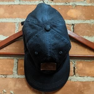 Express Navy baseball cap with leather patch
